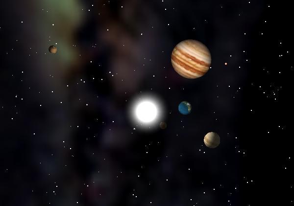 太陽系シミュレーター 太陽系の星々が現在どのような位置にいるか、明日は?明後日は?来年は?何十.